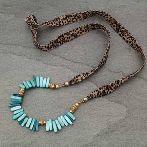 Shell Stone with Leopard Necklace